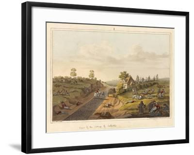 View of the Cottage of Valette-James Rouse-Framed Giclee Print