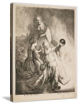 Lot and His Daughters, 1631-Jan Georg van Vliet-Stretched Canvas Print