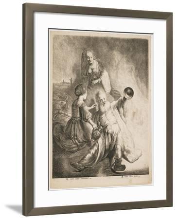Lot and His Daughters, 1631-Jan Georg van Vliet-Framed Giclee Print