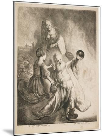 Lot and His Daughters, 1631-Jan Georg van Vliet-Mounted Giclee Print