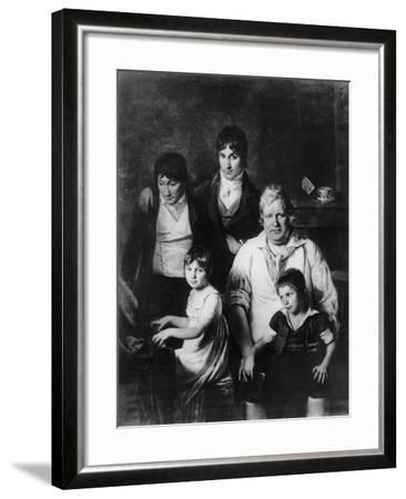 Family Portrait-Jacques Louis David-Framed Giclee Print