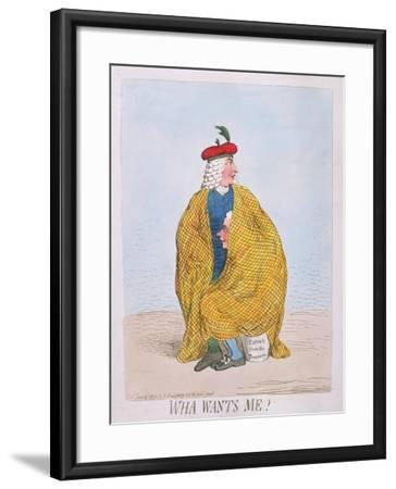 Wha Wants Me? Published by Hannah Humphrey in 1792-James Gillray-Framed Giclee Print