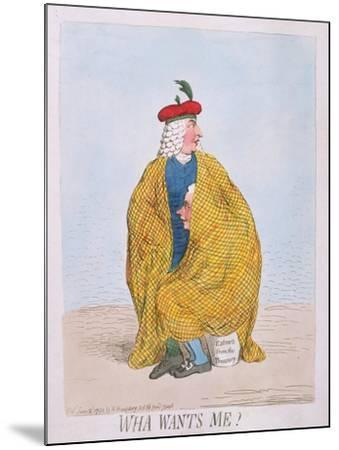 Wha Wants Me? Published by Hannah Humphrey in 1792-James Gillray-Mounted Giclee Print