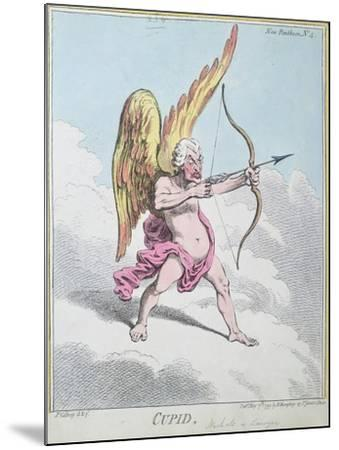 Cupid, Published by Hannah Humphrey in 1799-James Gillray-Mounted Giclee Print