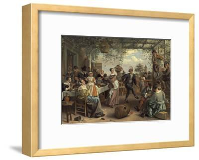 The Dancing Couple, 1663-Jan Havicksz^ Steen-Framed Giclee Print