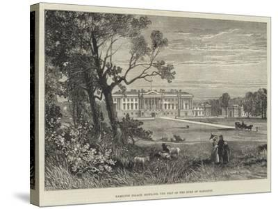 Hamilton Palace, Scotland, the Seat of the Duke of Hamilton-James Burrell Smith-Stretched Canvas Print