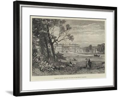 Hamilton Palace, Scotland, the Seat of the Duke of Hamilton-James Burrell Smith-Framed Giclee Print
