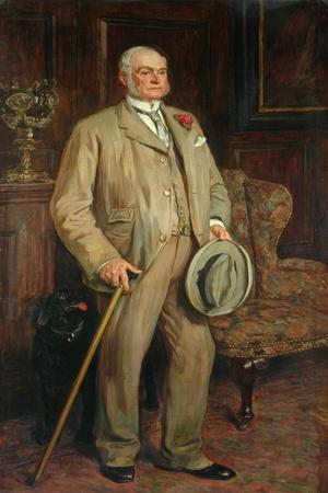 Man with Dog (Possibly Arthur Godwin)-James Charles-Framed Giclee Print