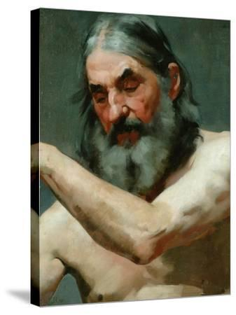 Study of an Old Man-James Charles-Stretched Canvas Print
