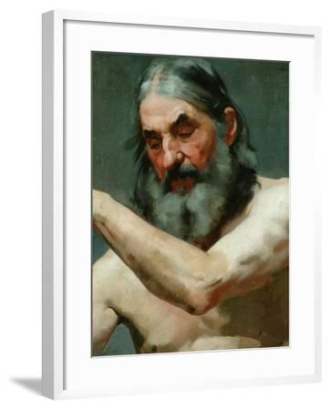 Study of an Old Man-James Charles-Framed Giclee Print