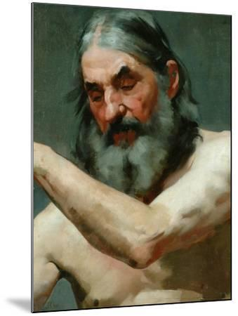 Study of an Old Man-James Charles-Mounted Giclee Print