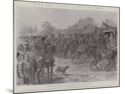With the Allied Forces in China-Johann Nepomuk Schonberg-Mounted Giclee Print