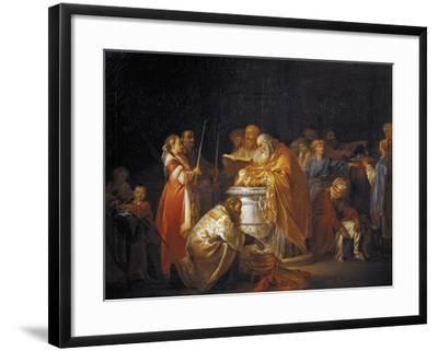 Russian Baptism, 1765-Jean-Baptiste Le Prince-Framed Giclee Print