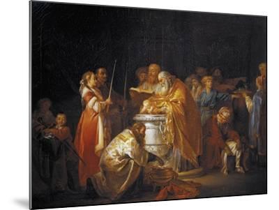 Russian Baptism, 1765-Jean-Baptiste Le Prince-Mounted Giclee Print