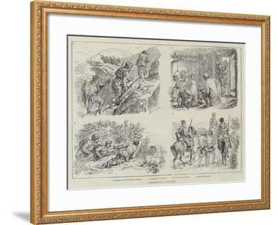 Brigandage in Bulgaria-Johann Nepomuk Schonberg-Framed Giclee Print