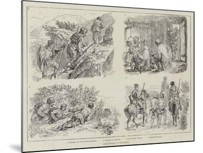 Brigandage in Bulgaria-Johann Nepomuk Schonberg-Mounted Giclee Print