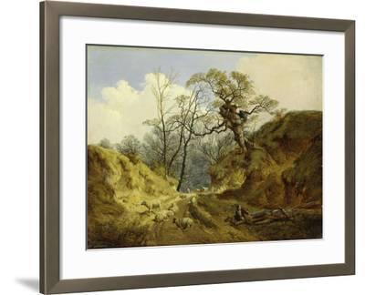 Crown Point, Whitlingham, Near Norwich, 1855-John Berney Ladbrooke-Framed Giclee Print
