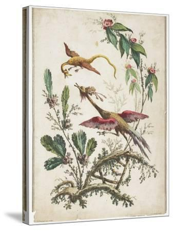 Ornament. Chinoiserie. Flowers and Birds., 1770-Jean Baptiste Pillement-Stretched Canvas Print