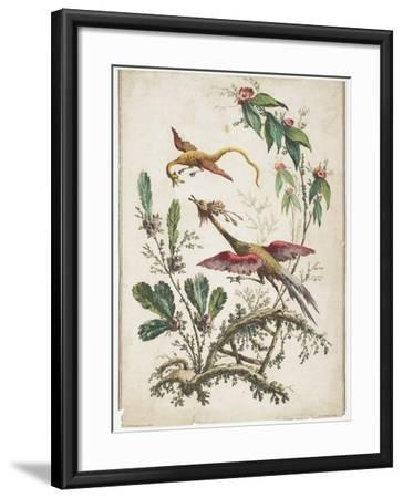 Ornament. Chinoiserie. Flowers and Birds., 1770-Jean Baptiste Pillement-Framed Giclee Print