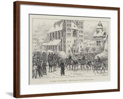 The Armies of the Continent, Austrian Military Stores Arriving at Cracow-Johann Nepomuk Schonberg-Framed Giclee Print