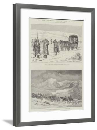 The War Between Servia and Bulgaria-Johann Nepomuk Schonberg-Framed Giclee Print
