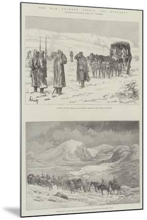 The War Between Servia and Bulgaria-Johann Nepomuk Schonberg-Mounted Giclee Print