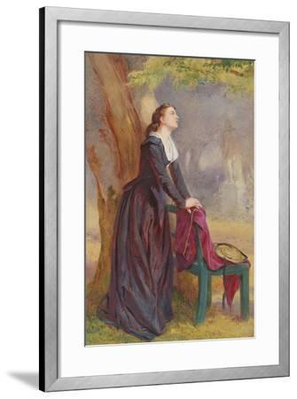The Meeting Place - under the Tree-John Absolon-Framed Giclee Print