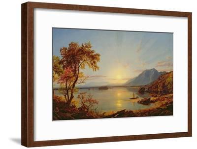 Sunset, Lake George, New York, 1867-Jasper Francis Cropsey-Framed Giclee Print