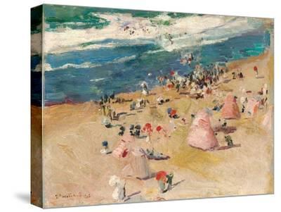 Beach at Biarritz, 1906-Joaquin Sorolla y Bastida-Stretched Canvas Print