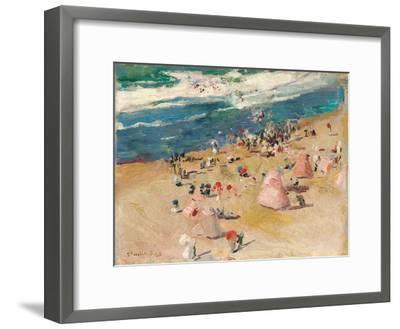 Beach at Biarritz, 1906-Joaquin Sorolla y Bastida-Framed Giclee Print