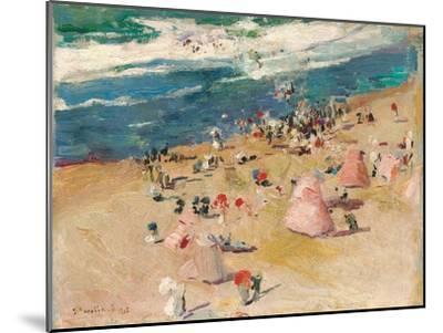 Beach at Biarritz, 1906-Joaquin Sorolla y Bastida-Mounted Giclee Print