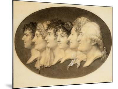 Profile Portrait of Augustin and His Family-Jean-Baptiste-Jacques Augustin-Mounted Giclee Print