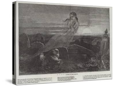 Dead Man Angel Grave Sunrise-John Absolon-Stretched Canvas Print