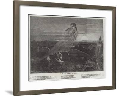 Dead Man Angel Grave Sunrise-John Absolon-Framed Giclee Print