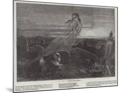 Dead Man Angel Grave Sunrise-John Absolon-Mounted Giclee Print