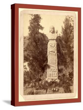 Wild Bill's Monument. James B. Hickoc [I.E. Hickok]-John C. H. Grabill-Stretched Canvas Print