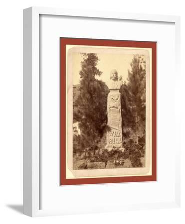 Wild Bill's Monument. James B. Hickoc [I.E. Hickok]-John C. H. Grabill-Framed Giclee Print