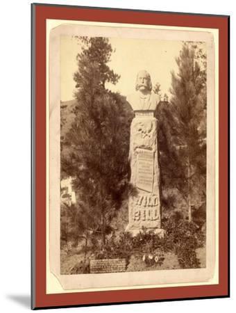 Wild Bill's Monument. James B. Hickoc [I.E. Hickok]-John C. H. Grabill-Mounted Giclee Print