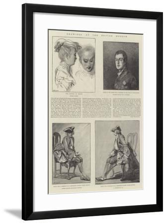 Drawings at the British Museum-Jean Antoine Watteau-Framed Giclee Print