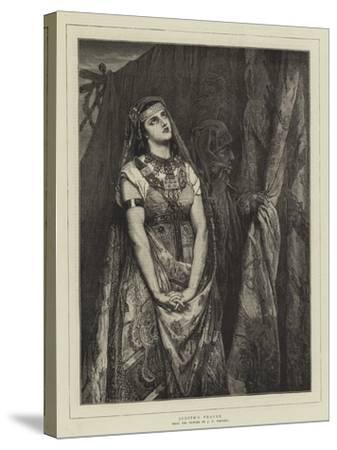 Judith's Prayer-Jean Francois Portaels-Stretched Canvas Print