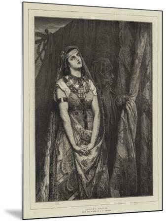 Judith's Prayer-Jean Francois Portaels-Mounted Giclee Print
