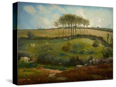 Pasture Near Cherbourg (Normandy), 1871-2-Jean-Francois Millet-Stretched Canvas Print