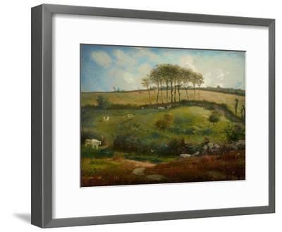 Pasture Near Cherbourg (Normandy), 1871-2-Jean-Francois Millet-Framed Giclee Print