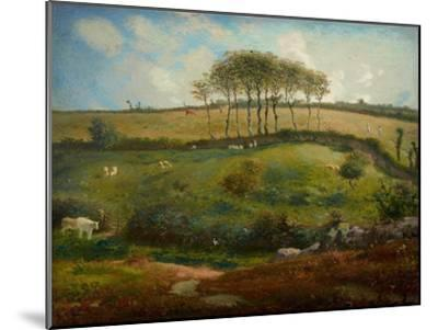 Pasture Near Cherbourg (Normandy), 1871-2-Jean-Francois Millet-Mounted Giclee Print