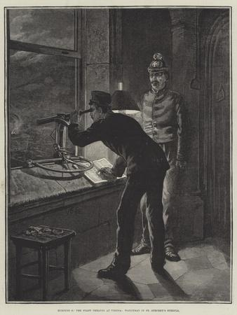 Burning of the Stadt Theatre at Vienna, Watchman in St Stephen's Steeple-Johann Nepomuk Schonberg-Framed Giclee Print