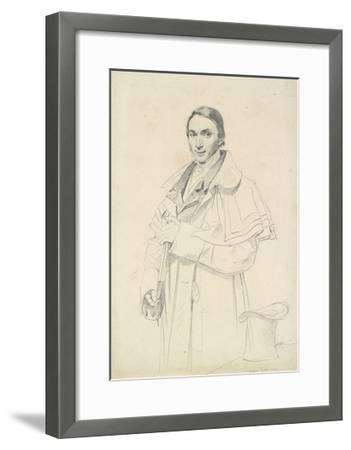 Three-Quarter-Length Portrait of Jean-Francois-Antoine Forest (Graphite on White Wove Paper)-Jean Auguste Dominique Ingres-Framed Giclee Print
