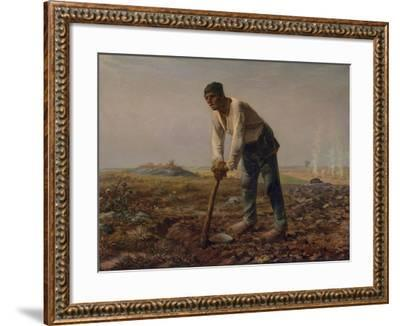 Man with a Hoe, C.1860-62-Jean-Francois Millet-Framed Giclee Print