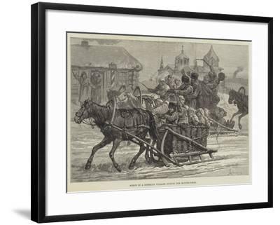 Scene in a Siberian Village During the Butter-Week-Johann Nepomuk Schonberg-Framed Giclee Print