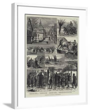 Inundations of the Rhine in Hesse-Darmstadt-Johann Nepomuk Schonberg-Framed Giclee Print