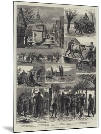 Inundations of the Rhine in Hesse-Darmstadt-Johann Nepomuk Schonberg-Mounted Giclee Print